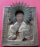 Икона Св.Николая ''На память отъ 12 гренадёрского полка/ 200 летъ., фото №3