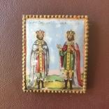 Финифть 2 святых 19 век, фото №3