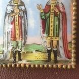 Финифть 2 святых 19 век, фото №6