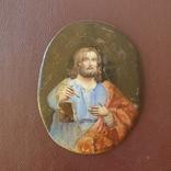 Финифть Святой с книгой, фото №2