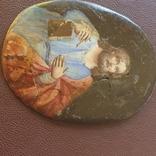 Финифть Святой с книгой, фото №6