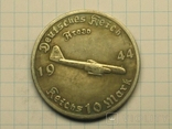 10 рейхсмарок 1944 самолет Арадо копия, фото №2