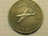10 рейхсмарок 1943 самолет Мессершмит копия, фото №2
