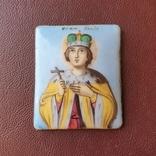 Икона финифть св князь Глеб, фото №2