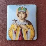 Икона финифть св князь Глеб, фото №3