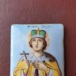 Икона финифть св князь Глеб, фото №4