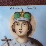 Икона финифть св князь Глеб, фото №5
