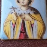 Икона финифть св князь Глеб, фото №6