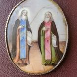 Финифть пр Никон и пр Сергий, фото №5