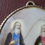 Финифть пр Никон и пр Сергий, фото №6