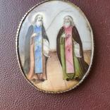 Финифть пр Никон и пр Сергий, фото №9