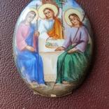 Финифть Святая Троица, фото №5