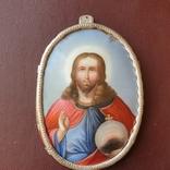 Финифть большая Исус Вседержатель, фото №2