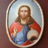 Финифть большая Исус Вседержатель, фото №4