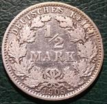 Гкрмания 1/2 марки 1905, фото №2