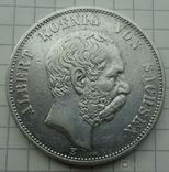 5 марок, 1894 год, Саксония., фото №2