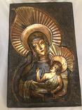 Чеканка на стену Дева Мария, фото №2