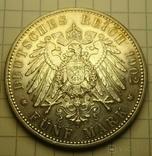 5 марок, 1902 год, Саксоня., фото №7