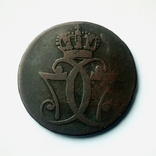 Дания 1 скиллинг 1771 г. Кристиан VII, фото №5