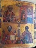 """Икона """"Четырёхчастник """" на золоте, фото №2"""