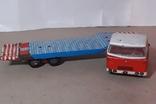 Машина грузовик+прицеп SpecialtransportMS Brandenburg ГДР GDR 1960-е жесть жестяная, СССР, фото №3