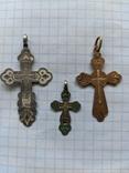 Крестики нательные 19 век серебро и золото, фото №5