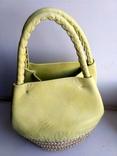 Эко-сумка плетёная, и натуральной кожи., фото №3
