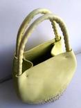 Эко-сумка плетёная, и натуральной кожи., фото №4
