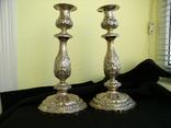 Два підсвічники ,срібло 84 пр,Одесса., фото №2