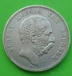 5 марок, 1876 год, Саксония., фото №2