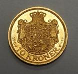10 крон, 1909 г Дания, фото №2