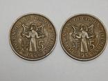 2 монеты по 5 милс, 1955 г Кипр, фото №2