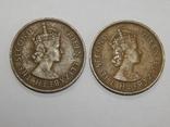 2 монеты по 5 милс, 1955 г Кипр, фото №3