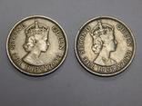 2 монеты по 50 милс, 1955 г Кипр, фото №3