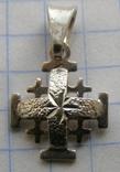 Крестик. JERUSALEM. Серебро 925 пр. Вес - 0,96 г., фото №3