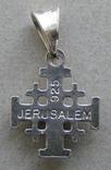 Крестик. JERUSALEM. Серебро 925 пр. Вес - 0,96 г., фото №6