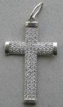 Крестик. Серебро 925 пр. Вес - 2,68 г., фото №4