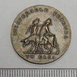 Памятный жетон старой Великобритании,1814 г, фото №2