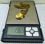 Кулон янтарь пейзажный в бронзе, 19.65 грам, фото №4