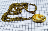 Кулон янтарь пейзажный в бронзе, 19.65 грам, фото №6