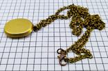 Кулон янтарь пейзажный в бронзе, 19.65 грам, фото №7