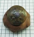 Пуговица с накладкой на орлах Р.И., фото №3