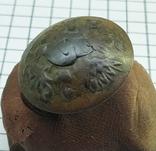 Пуговица с накладкой на орлах Р.И., фото №5