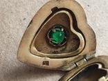 Серебряный кулон с Изумрудом, фото №12