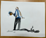 """Карикатура М.С. Рябинина """"Тень"""", фото №2"""