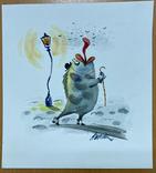 """Карикатура М.С. Рябинина """"Рыба"""", фото №2"""