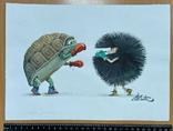 "Карикатура М.С. Рябинина ""Бокс"", фото №2"