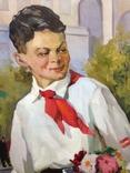 Соцреализм Первый раз-в первый класс ! 1950 е гг,, фото №4
