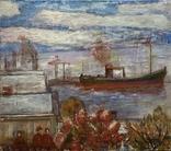 Индустриальный пейзаж Вид на Ильичевский порт 1970 е гг., фото №3