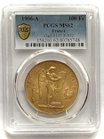 """100 франков. 1906. """"Золотой ангел"""" Франция. слаб PCGS (золото 900, вес 32,25 г), фото №3"""
